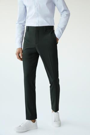 skinny pantalon donkergroen