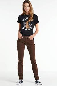 ONLY T-shirt Vita met printopdruk zwart, Zwart
