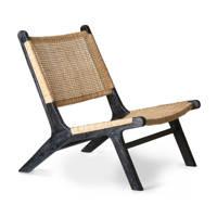 HKliving fauteuil Webbing, Zwart/naturel