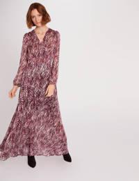Morgan maxi jurk met all over print framboise, Framboise