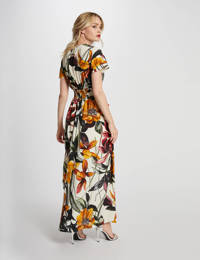 Morgan maxi jurk met all over print ecru/multi, Ecru/multi