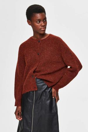 vest met wol rood