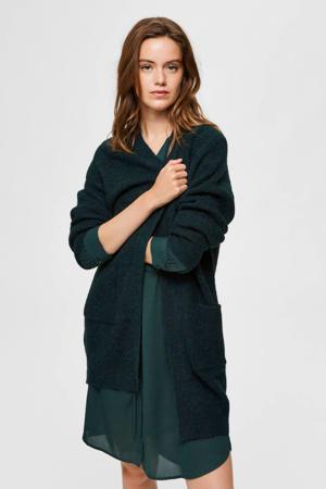 vest met wol groen