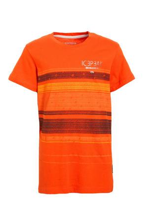 T-shirt Millville roodbruin