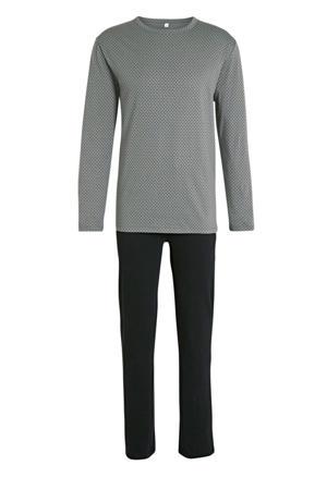 pyjama met stippen grijs/zwart