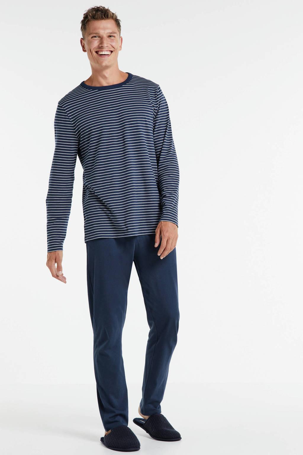 ten Cate pyjama met strepen blauw, Blauw