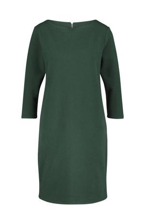 jurk met textuur donkergroen