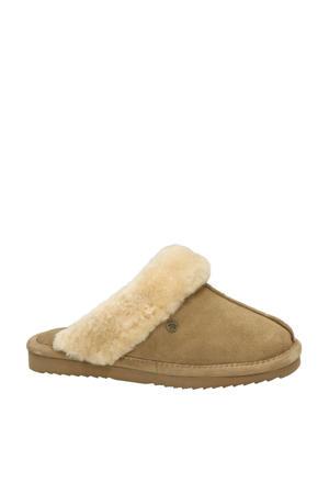 Lismore suède pantoffels camel