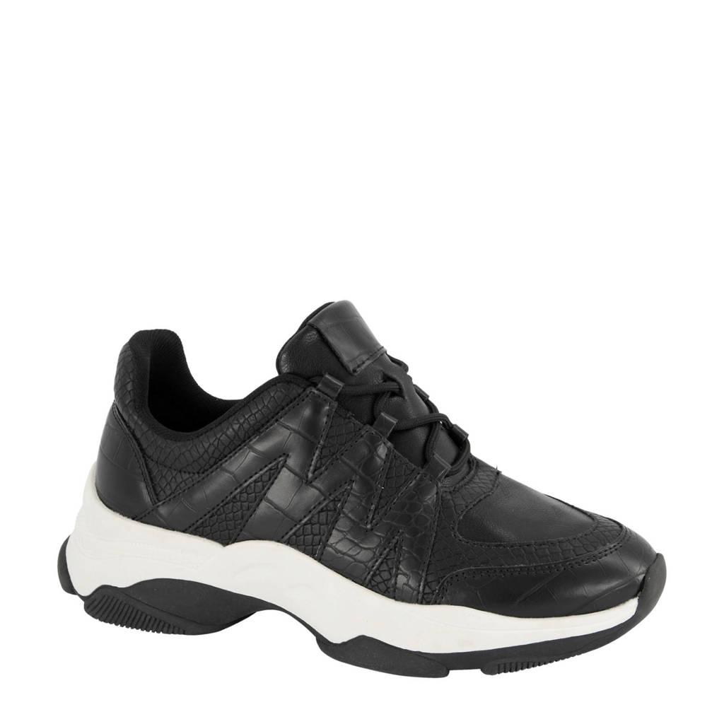 Oxmox   sneakers crocoprint/zwart, Zwart