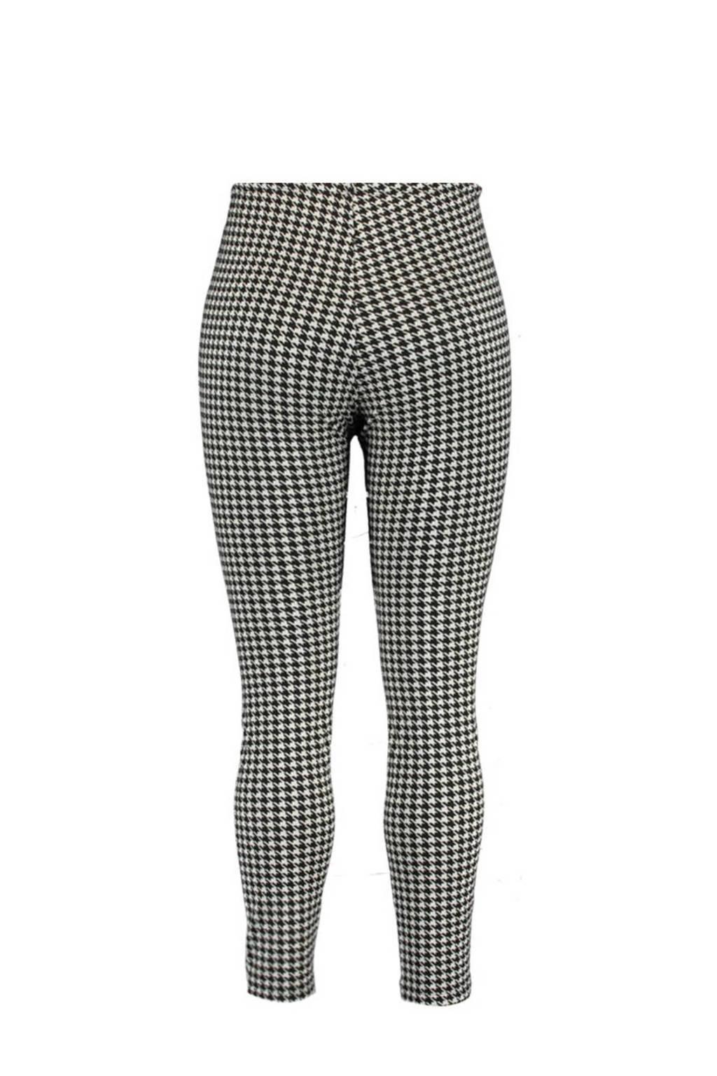 MS Mode legging met pied-de-poule wit/zwart, Wit/zwart