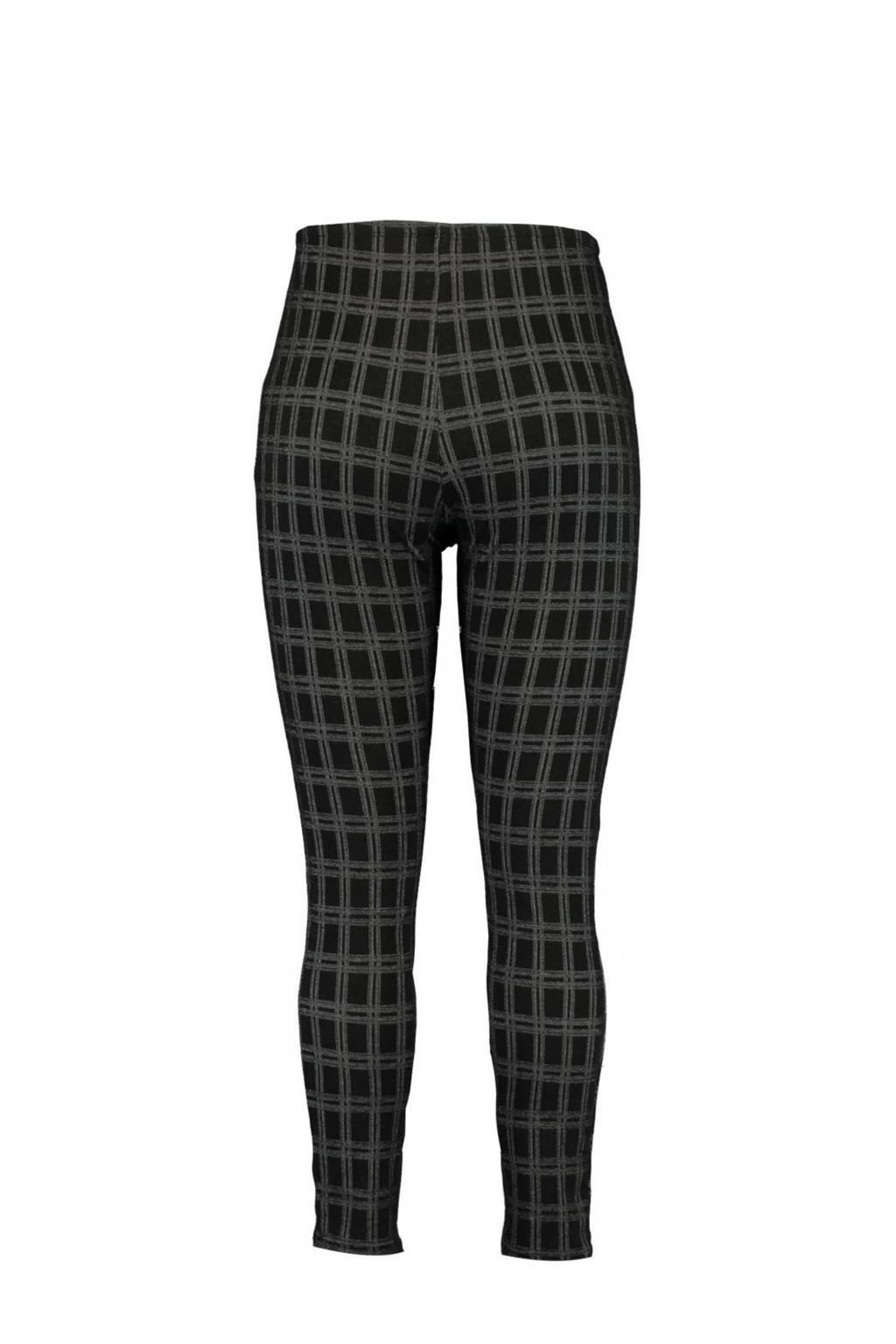 MS Mode geruite legging zwart/grijs, Zwart/grijs