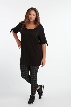 geruite legging zwart/grijs