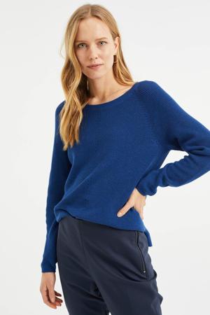 gebreide trui donkerblauw