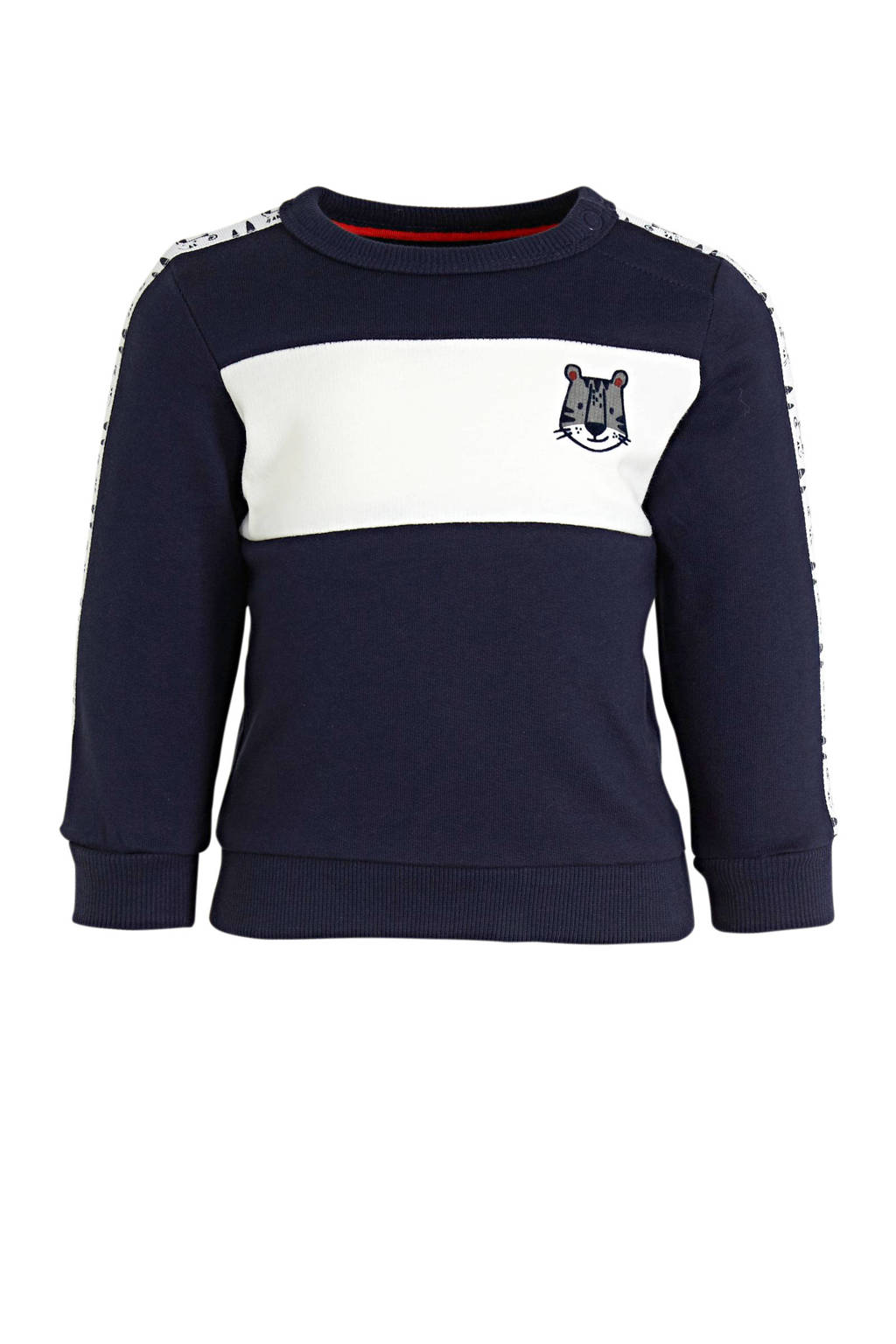 C&A Baby Club sweater met printopdruk donkerblauw/wit, Donkerblauw/wit