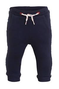 C&A Baby Club joggingbroek met zijstreep donkerblauw/wit, Donkerblauw/wit