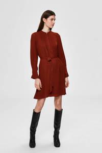 SELECTED FEMME blousejurk donkerrood, Donkerrood