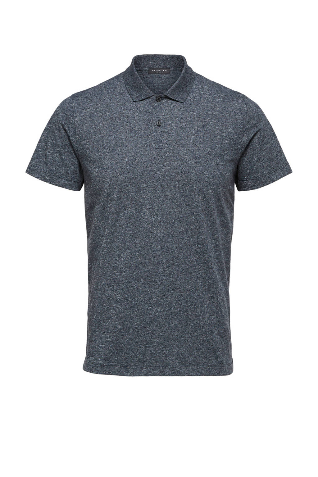SELECTED HOMME regular fit polo donkerblauw, Donkerblauw
