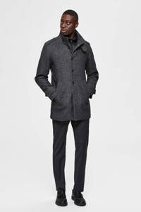 SELECTED HOMME jas met wol donkergrijs, Donkergrijs