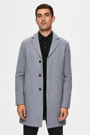 jas met wol grijs