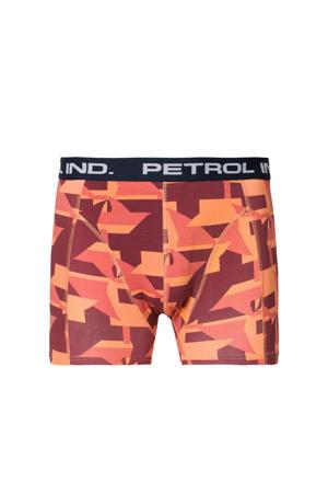 boxershort met grafische print oranje/roze