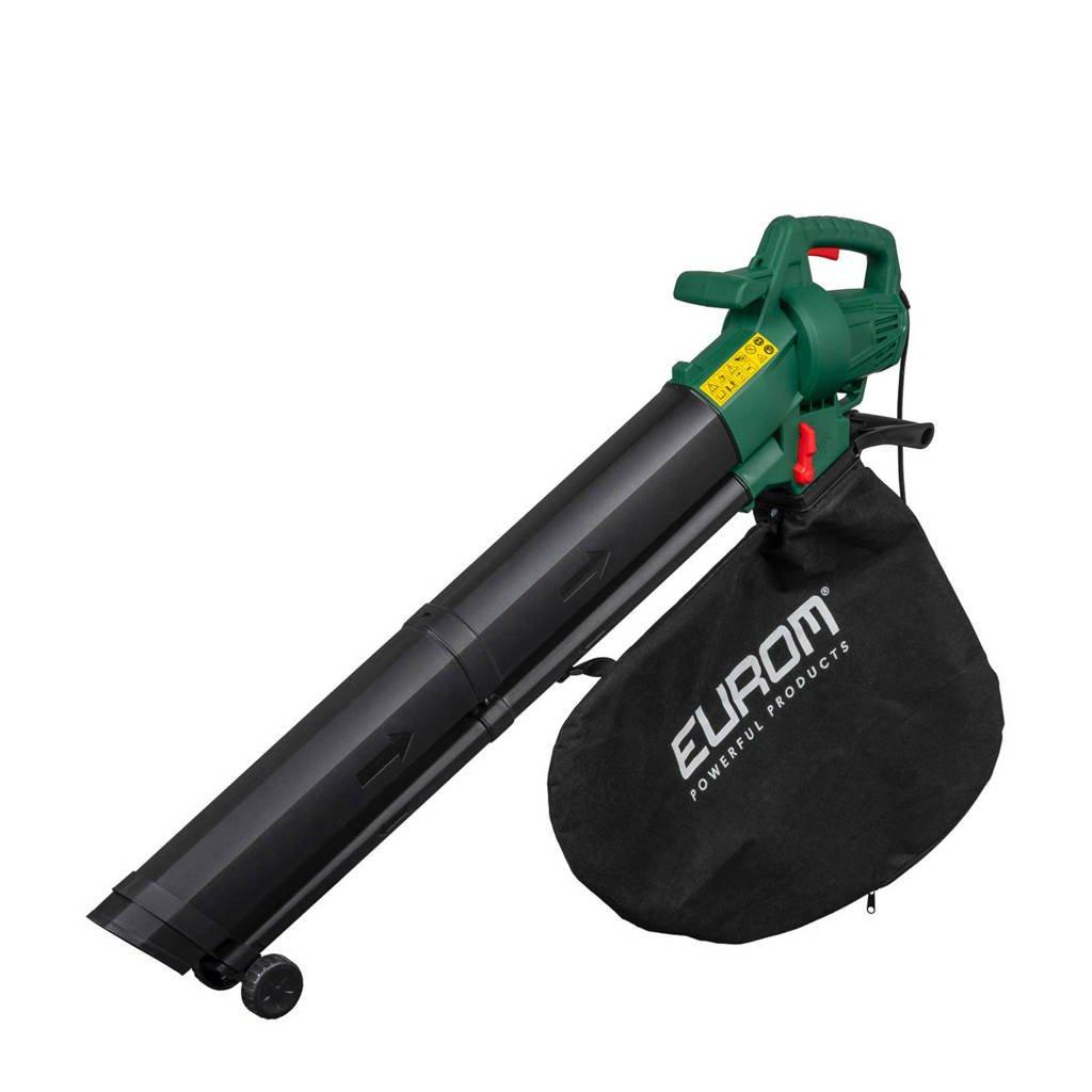 Eurom  elektrische bladblazer Gardencleaner 3001, Groen/zwart