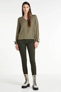 VERO MODA cropped skinny jeans Tanya groen, Groen