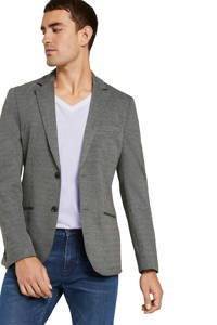 Tom Tailor regular fit colbert met textuur grijs, Grijs