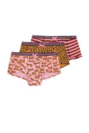 hipster - set van 3 roze/oranje/zwart