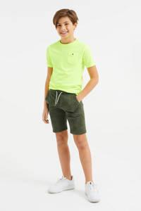 WE Fashion sweatshort - set van 2 blauw/olijfgroen, Blauw/olijfgroen