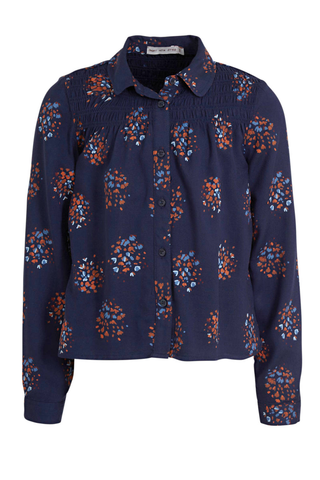 C&A blouse met all over print donkerblauw, Donkerblauw