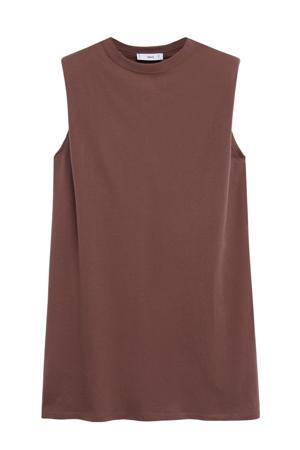 T-shirtjurk bruin