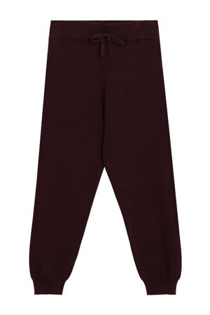 loose fit broek donkerrood
