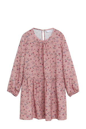 gebloemde blousejurk roze