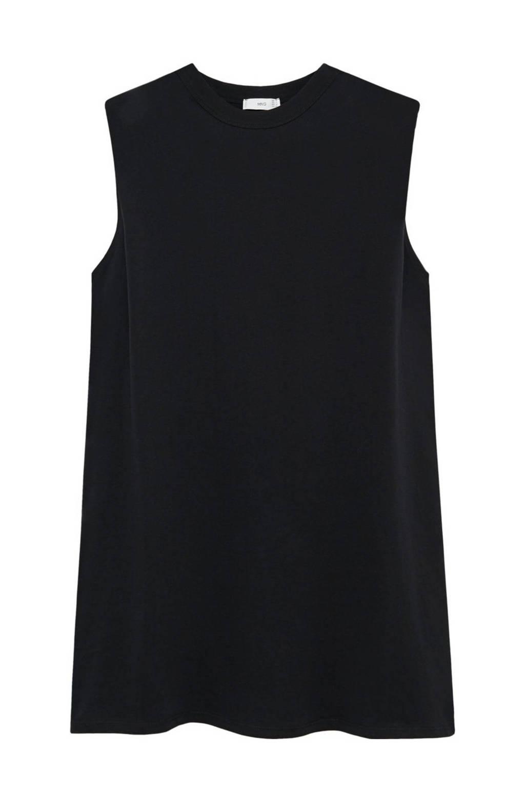 Mango T-shirtjurk zwart, Zwart