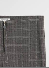 Violeta by Mango geruite legging grijs, Grijs