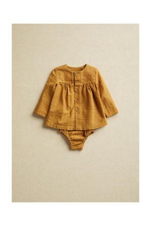 baby blouse met broekje mostergeel