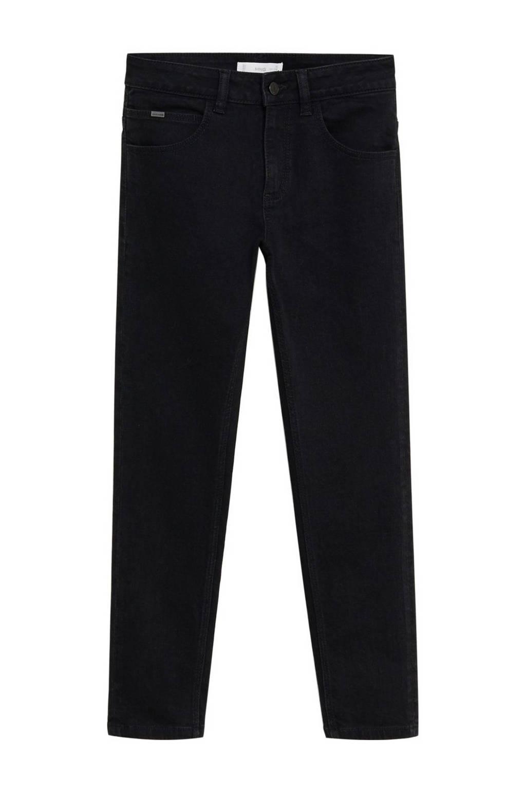 Mango Kids regular fit jeans zwart, Zwart