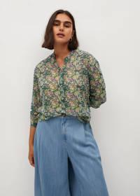 Violeta by Mango gebloemde blouse groen, Groen