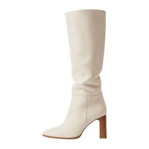 leren laarzen off white