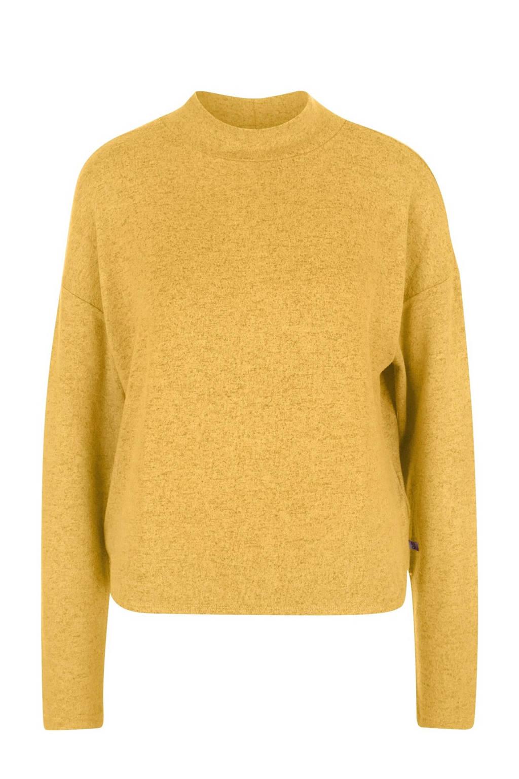 Q/S designed by gemêleerde gebreide trui geel, Geel
