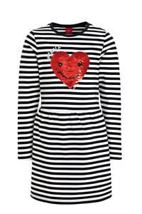 s.Oliver gestreepte T-shirtjurk marine/wit, Marine/wit