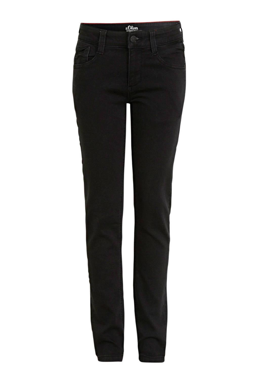 s.Oliver regular fit broek zwart, Zwart