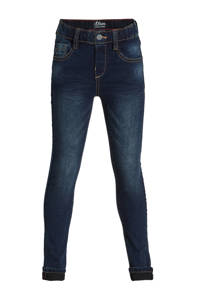 s.Oliver slim fit jeans donkerblauw, Donkerblauw