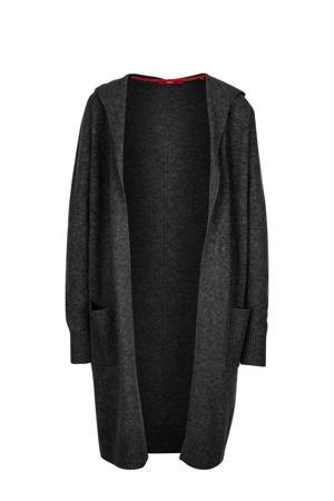 vest met wol antraciet