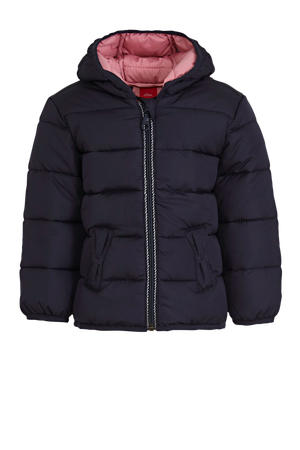 baby gewatteerde winterjas donkerblauw