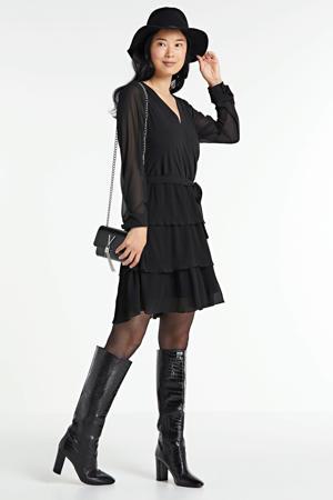 jurk met mesh zwart