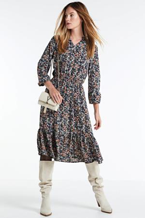 gebloemde maxi jurk Vessi donkerblauw/multi