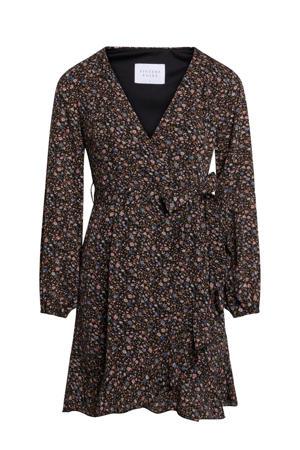 blousejurk met all over print zwart