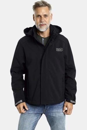 softshell jas Plus Size Menne zwart