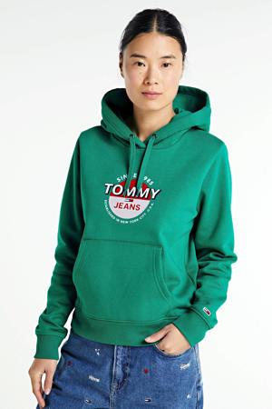 regular fit hoodie met biologisch katoen midwest green